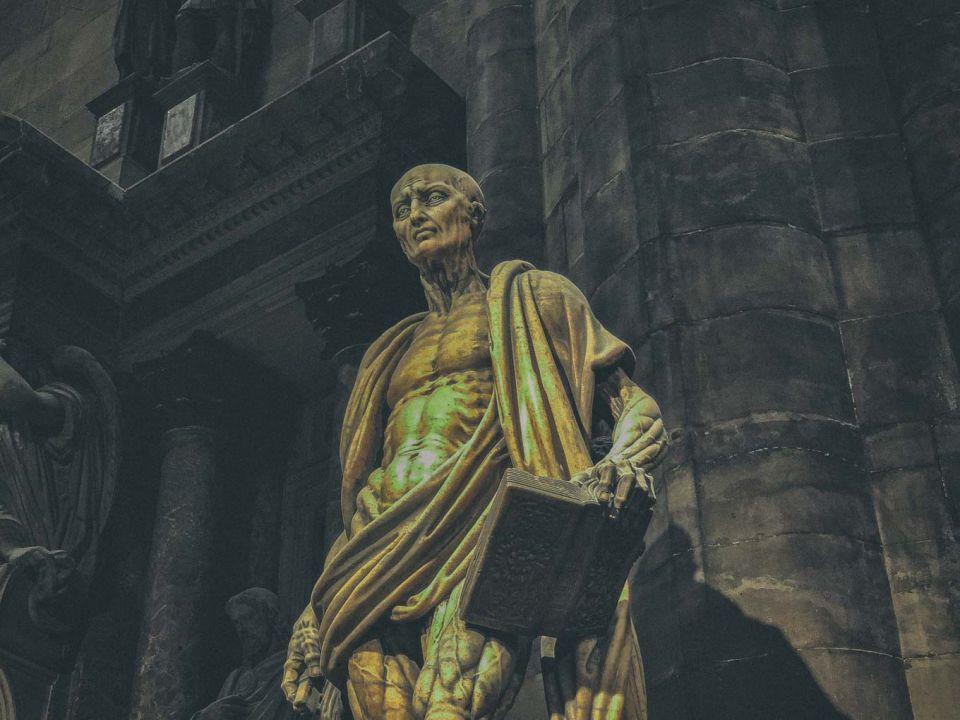 St Bartholomew Flayed inside the Duomo di Milano
