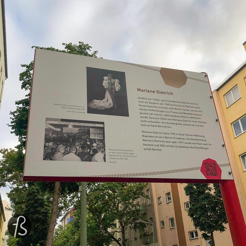 She is the most prominent name when you think about cinema and Berlin, and she came to the world as Marie Magdalene Dietrich, but everybody knows a slightly different name. Marlene Dietrich was born in Schöneberg back in December 1901, precisely on Leberstrasse 65.