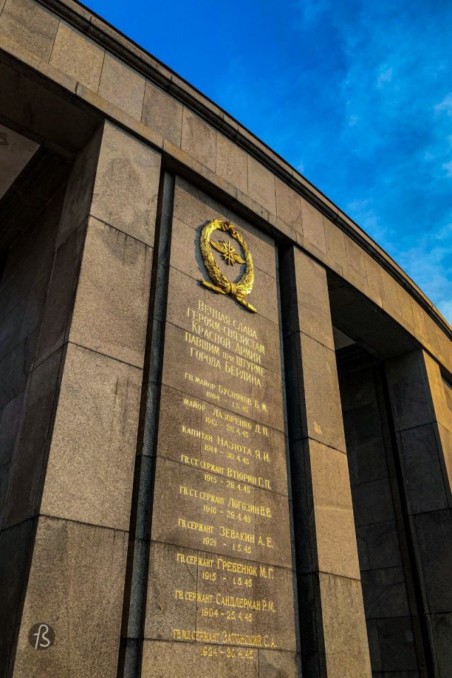 The Second World War was over at the beginning of May 1945. And Berlin lay in ruins for years after that. It was interesting to me when I first found pictures of the Soviet Memorial in the Tiergarten standing in the middle of the debris of a ruined city. The memorial was unveiled to the public in November 1945. The Tiergarten was still in ruins due to incendiary bombs and its trees being removed to be used as timber wood in the last months of the war. Because of all this, the image of a Soviet memorial in the middle of the ruins caught my attention before I even visited the place.