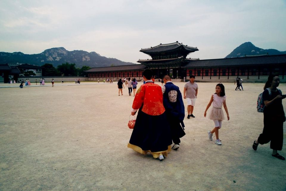 Gyeongbokgung and mount bugak