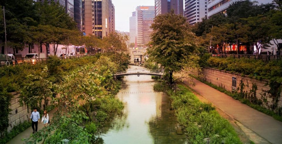 Cheonggyecheon stream near Gyeongbokgung in Seoul, Korea