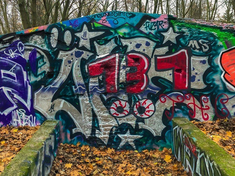 This is one of the few bunkers in Berlin that is easy to enter. This happens because the place is abandoned in the middle of a park and, even though it keeps getting walled in, people break it down and make it easy to enter it.