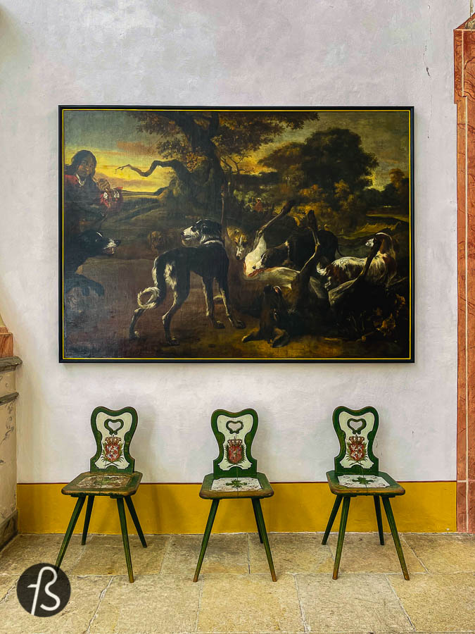 Inside the palace, you will find out a bit about the life of Augustus II the Strong and how the elaborate home decor looked at the time. There are gilded leather wallpapers, a game room with a pool table and many monumental looking paintings exhibited throughout the walls.
