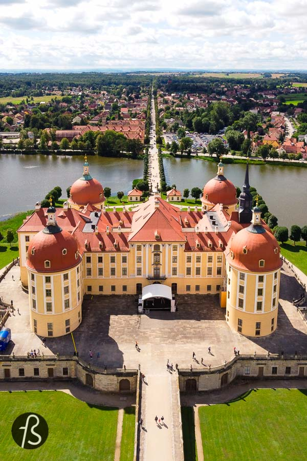The most exciting thing about Moritzburg Castle is how harmonious it looks and how integrated it is to its surroundings. The landscape was developed with the castle in mind, and you can clearly see it once you go for a walk around the park. There you will find the Little Pheasant Castle and a lake lighthouse to entertain the kings while staged naval battles happened there.